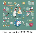 medical cartoon info graphic... | Shutterstock .eps vector #129718214