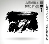 black brush stroke and... | Shutterstock .eps vector #1297185394