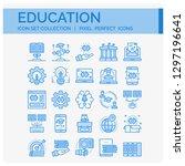 education icons set. ui pixel... | Shutterstock .eps vector #1297196641
