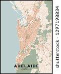 adelaide  australia  city map....   Shutterstock .eps vector #1297198834