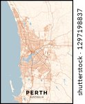 perth  australia  city map.... | Shutterstock .eps vector #1297198837
