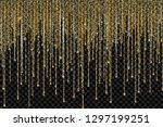 vector falling in lines gold... | Shutterstock .eps vector #1297199251