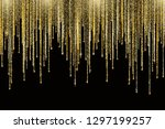 vector falling in lines gold... | Shutterstock .eps vector #1297199257