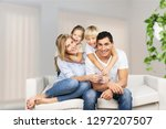 beautiful smiling lovely family ... | Shutterstock . vector #1297207507