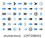 arrows big black set icons.... | Shutterstock .eps vector #1297208431