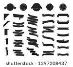 flat vector ribbons banners... | Shutterstock .eps vector #1297208437