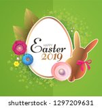 happy easter design template... | Shutterstock .eps vector #1297209631