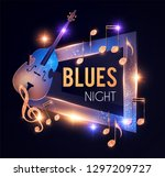 blues night. jazz concert... | Shutterstock .eps vector #1297209727
