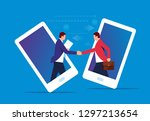 internet business cooperation | Shutterstock .eps vector #1297213654