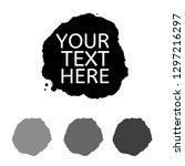vector grunge black paint  ink...   Shutterstock .eps vector #1297216297