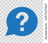 question mark sign in blue... | Shutterstock .eps vector #1297227067