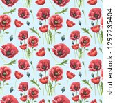 floral seamless pattern made of ... | Shutterstock . vector #1297235404