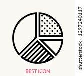 pie chart concept line icon....