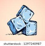 stylized algid gelid glacial... | Shutterstock .eps vector #1297240987