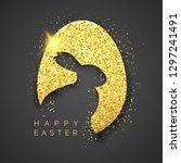 easter black background with... | Shutterstock .eps vector #1297241491
