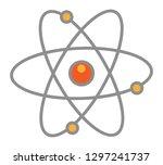atom trajectory vector | Shutterstock .eps vector #1297241737