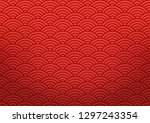 red chinese oriental background ... | Shutterstock .eps vector #1297243354