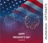 happy presidents day usa with... | Shutterstock .eps vector #1297246471