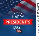 presidents day sale background. ... | Shutterstock .eps vector #1297246474