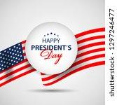 presidents day paper banner... | Shutterstock .eps vector #1297246477