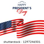 happy presidents day background ... | Shutterstock . vector #1297246501