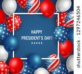 happy presidents day usa with... | Shutterstock . vector #1297246504