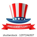 happy presidents day poster... | Shutterstock . vector #1297246507