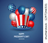 happy president's day poster...   Shutterstock . vector #1297246531