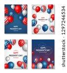 banner set of usa president's...   Shutterstock . vector #1297246534