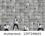 business concept  a group of...   Shutterstock . vector #1297248601