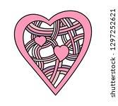 heart. intertwined bands. hand...   Shutterstock .eps vector #1297252621