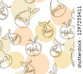 apple  pear  plum   one... | Shutterstock .eps vector #1297255411