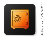 orange glowing safe icon... | Shutterstock .eps vector #1297262281