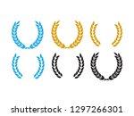 round laurel and oak heraldry... | Shutterstock . vector #1297266301