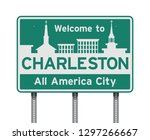 welcome to charleston road sign | Shutterstock .eps vector #1297266667
