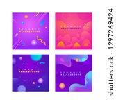 dynamic background vector...   Shutterstock .eps vector #1297269424