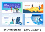 set of landing page template... | Shutterstock .eps vector #1297283041