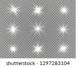 star explodes on transparent... | Shutterstock .eps vector #1297283104