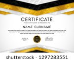 certificate template with... | Shutterstock .eps vector #1297283551