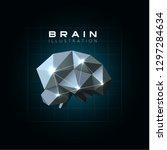 neural network structure... | Shutterstock . vector #1297284634