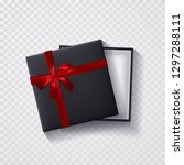open black empty gift box with... | Shutterstock .eps vector #1297288111