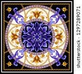 design scarf with golden... | Shutterstock .eps vector #1297289071