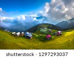 highland houses ka kar mountains | Shutterstock . vector #1297293037
