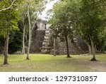 mayan temple in the rain forest ... | Shutterstock . vector #1297310857