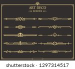 set of art deco gold... | Shutterstock .eps vector #1297314517