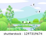 nature background with wetland... | Shutterstock .eps vector #1297319674