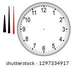 disassembled wall clock on... | Shutterstock . vector #1297334917