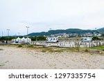 parking spot for motorhomes or... | Shutterstock . vector #1297335754
