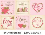 happy valentine's day greeting...   Shutterstock .eps vector #1297336414