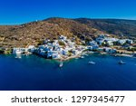 aerial view of katapola vilage  ...   Shutterstock . vector #1297345477